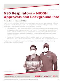 Flyer - N95 NIOSH Approvals