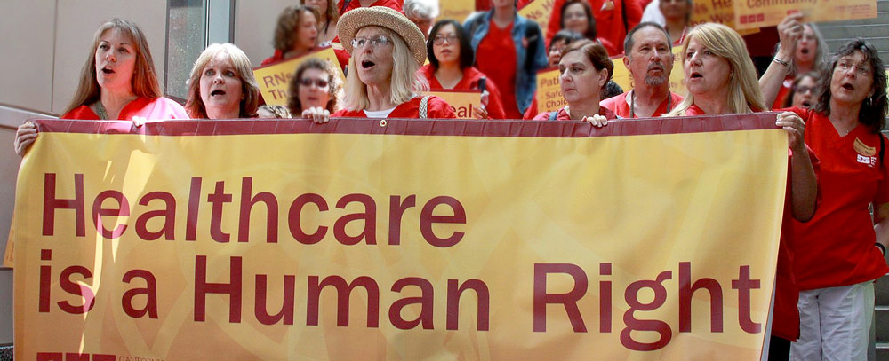 Healthcare is a human right sign