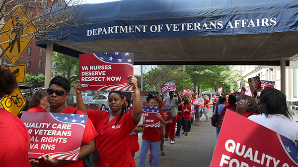 Nurses hold action Veterans Affairs offices