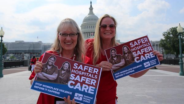 Nurses outside Capitol building