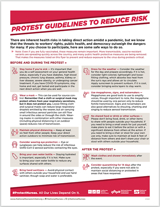 Guide to safe protesting
