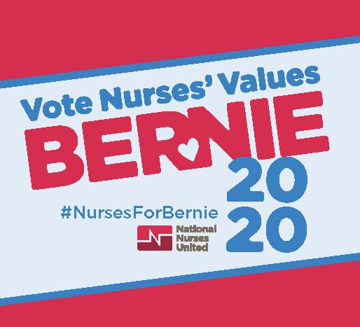 Vote Nurses Values Bernie 2020 sticker