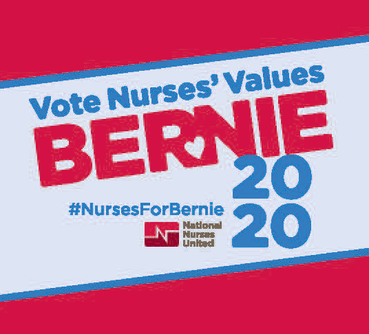 Vote Nurses' Values Bernie 2020 sticker