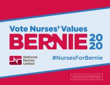 Vote Nurses' Values Bernie 2020