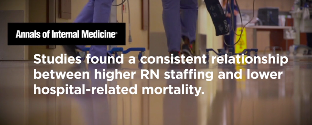 Graphic: Studies found a consistent relationship between higher RN staffing and lower hospital-related mortality.