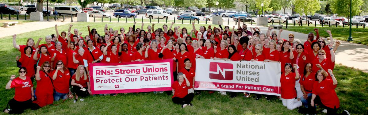 RNs Gather in front of Capitol Building in DC