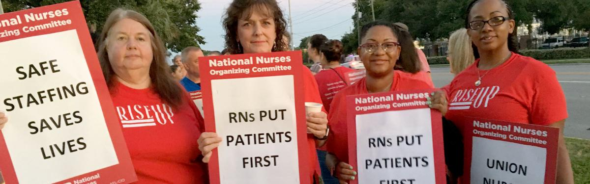 HCA Nurses picket