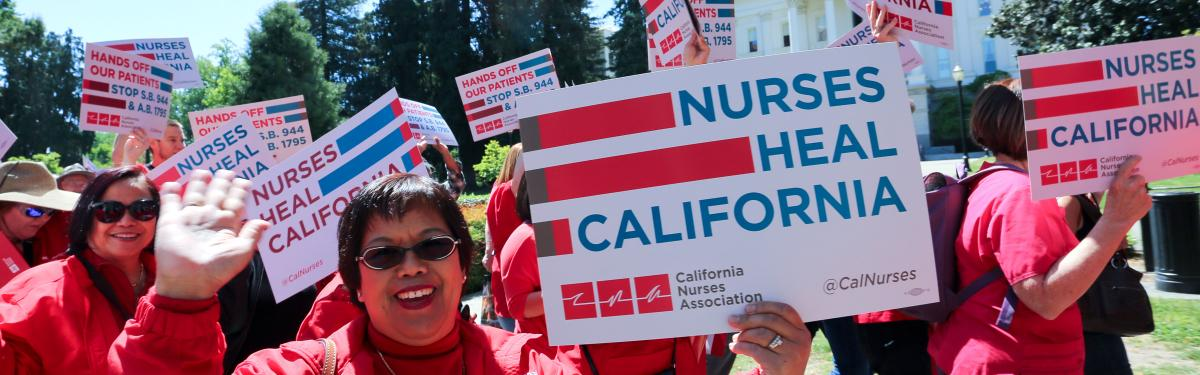 Nurses marching to capitol