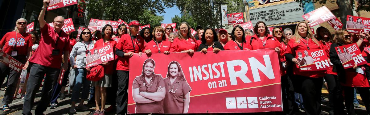 Nurses at NNU Lobby day in Sacramento