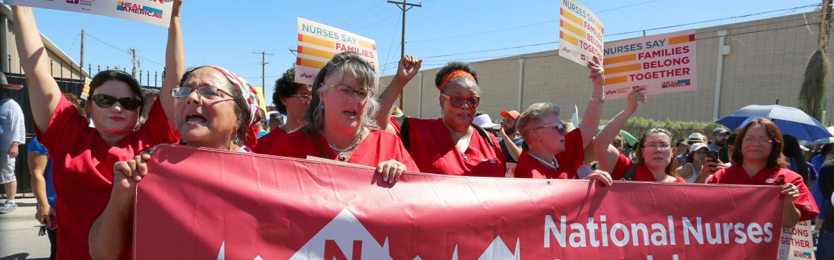 RNs protest seperation of families in El Paso, TX