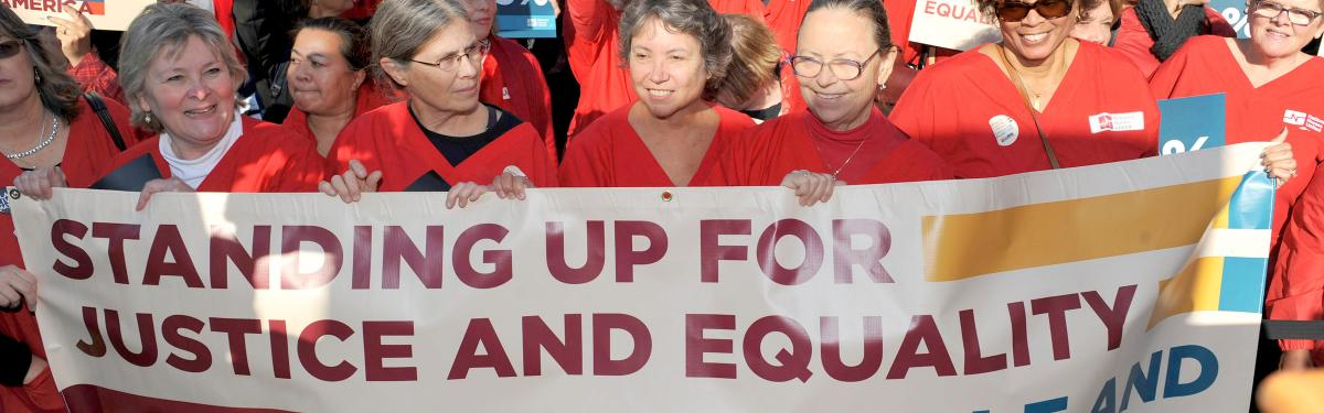 Nurses standing for equality