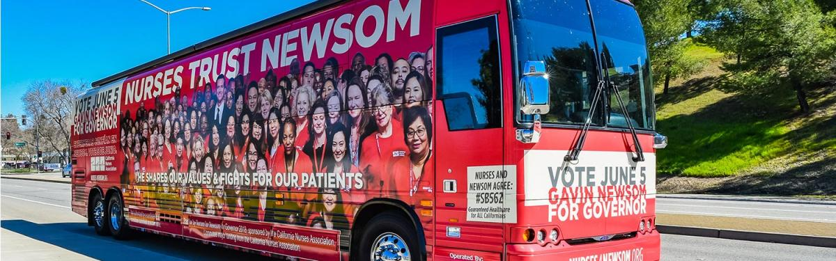 Nurses for Newsome bus