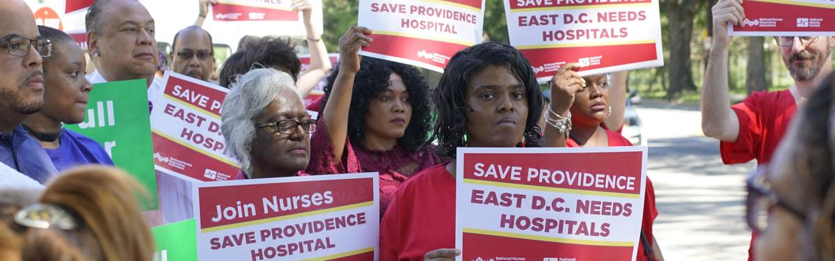 Providence nurses rally to support their hospital