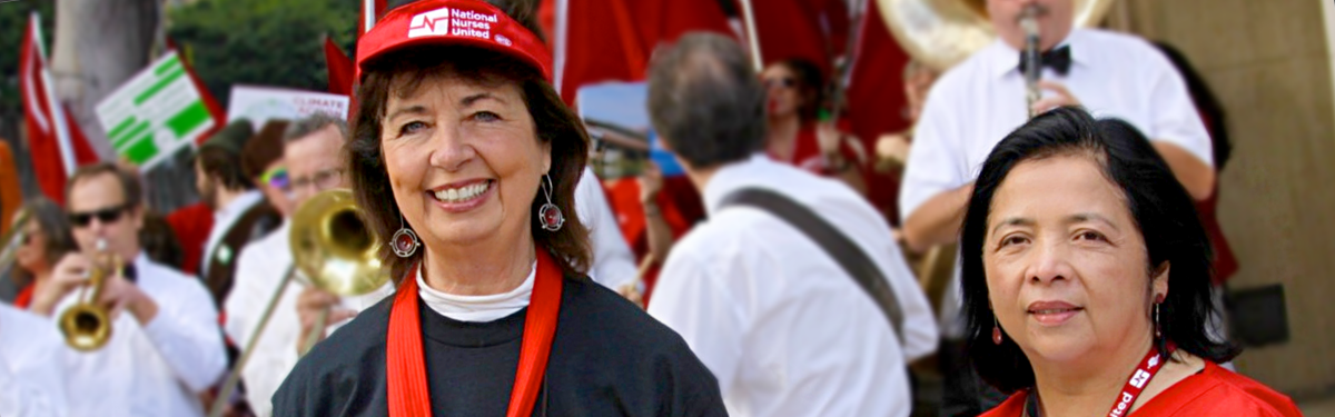 RoseAnn DeMoro and Bonnie Castillo, RN