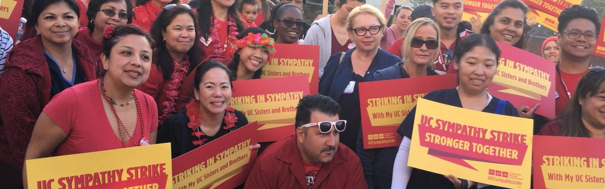 UC RNs Strike in Sympathy with other workers