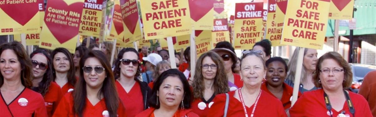 Nurses rally for patient care