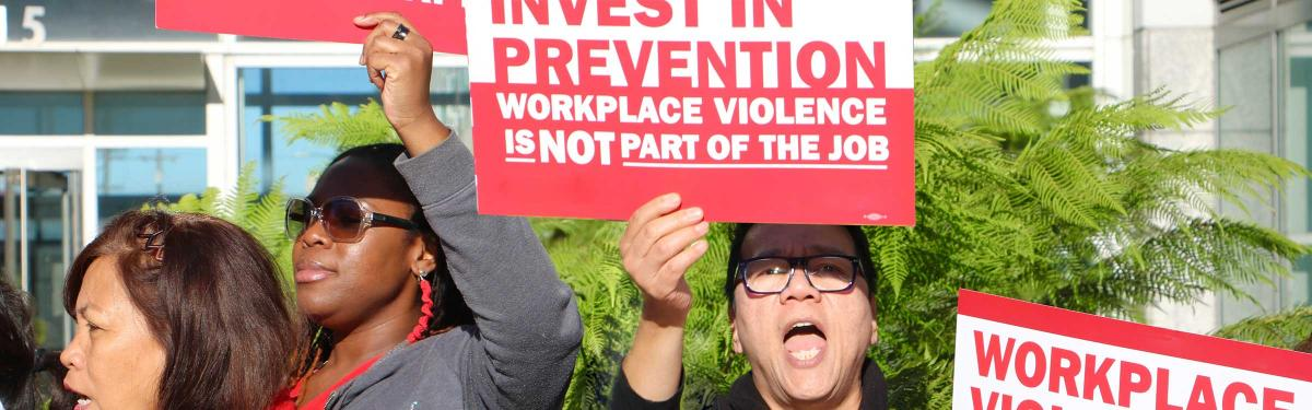 Nurses rally to stop workplace violence