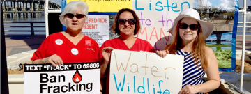 Nurses and community members rally for clean water