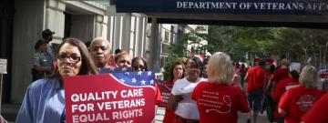RNs protest Department of Veterans Affairs
