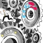 Cartoon with gears