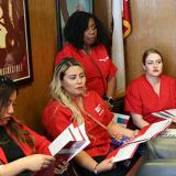 Nurses visiting Calif. legislator