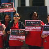 Nurses outside Nevada legislature