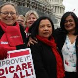 NNU Executive Director, Bonnie Castillo, RN at bill introduction