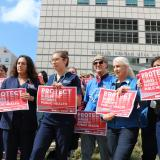 Nurses rally for increased protections from COVID-19