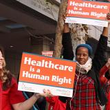 Nurses for SB562 outside Dec. 11 Select Committee Hearing