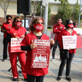 Registered nurses at San Leandro Hospital strike