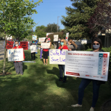 Registered nurses at HCA's Good Samaritan Hospital in San Jose protesting unsafe staffing