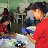 Nurses tend to patient in Guatemala