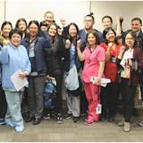 Kaiser South San Francisco RNs after voting to affirm new contract