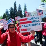 Nurses marching to state capitol