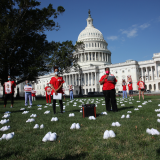 Nures hold memorial outside the Capitol