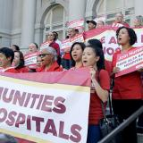 Nurses rally for community hospitals