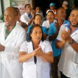 Nurses' unions of the Pascasio Toribio Piantini Hospital halt work