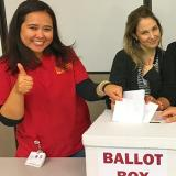 Nurses at ballot box