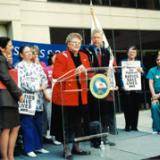 Then CNA President Kay McVay, RN with California Gov. Gray Davis
