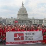 Nurses outside Capitol