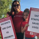 HCA Nurses and family members picket