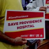 Community members rally to keep Providence Hospital open