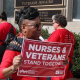 Nurses rally for veterans