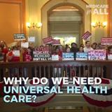 Nurses rally for Medicare For All at the California State Capitol
