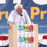 Bernie Sanders speaks at Yes on 61 rally